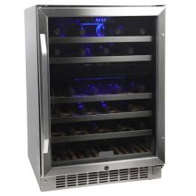 24 inch wide 46 bottle builtin wine cooler with dual cooling zones