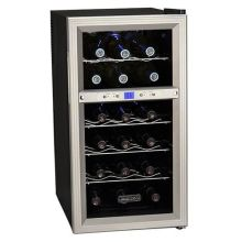 14 inch wide 18 bottle wine cooler with dual cooling zones