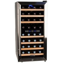 16 inch wide 32 bottle wine cooler with dual cooling zones