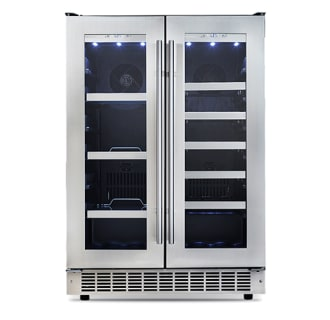Avanti ewc1201 silent 48bottle dual zone wine cooler with builtin 24 inch wide 61 can capacity beverage center danby sciox Choice Image