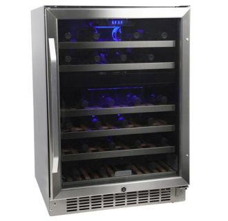 24 inch wide 46 bottle builtin wine cooler with dual cooling zones - Built In Wine Fridge