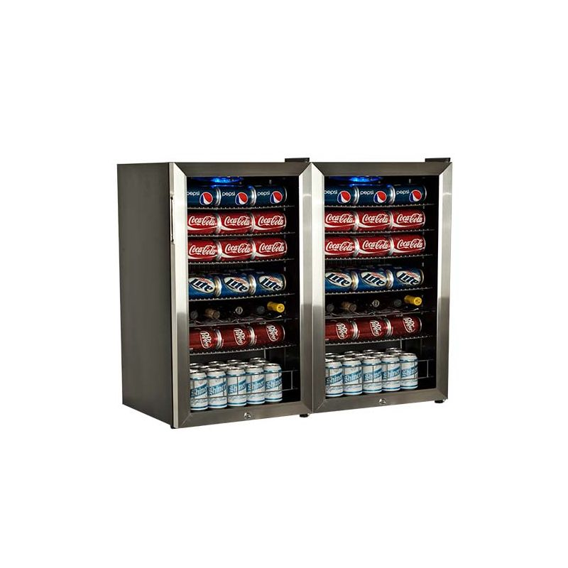 EdgeStar BWC120LTDUAL 206 Can and 10 Bottle Side-by-Side Beverage Coolers with U
