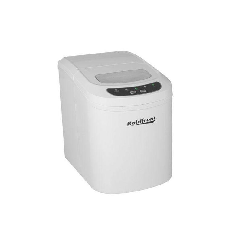 Koldfront KIM202 10 Inch Wide 1.5 Lbs. Capacity Portable Ice Maker with 26 Lbs.
