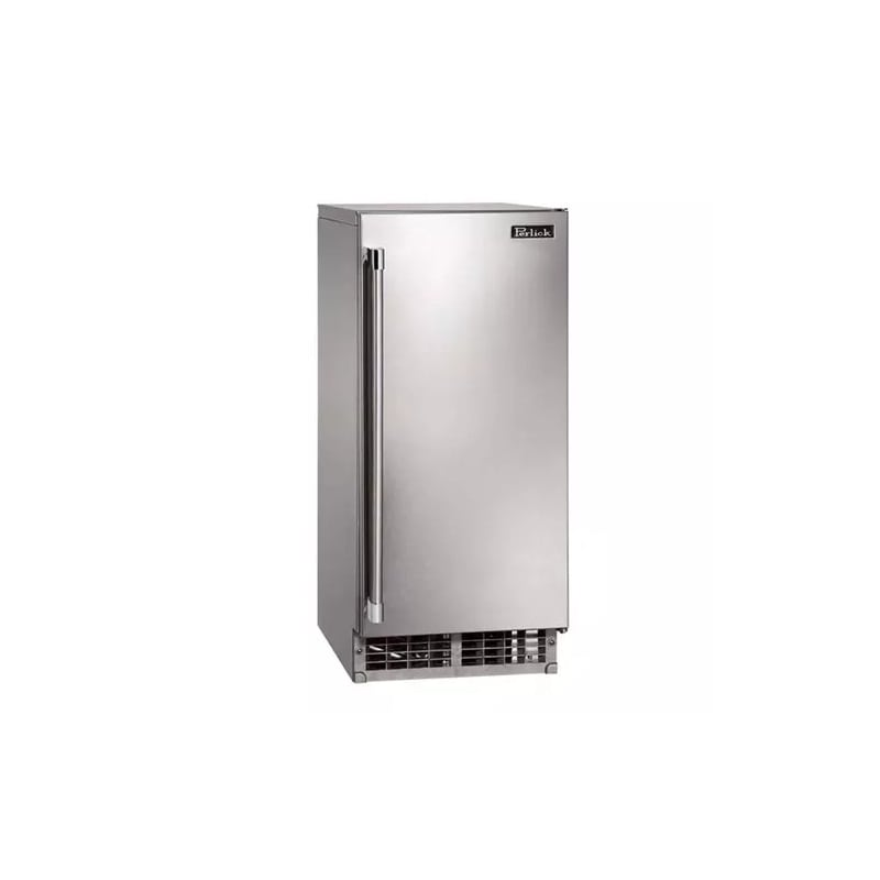 Perlick H50IMS-R 15 Inch Wide 22 lb. Capacity Clear Ice Maker with Right Hand So