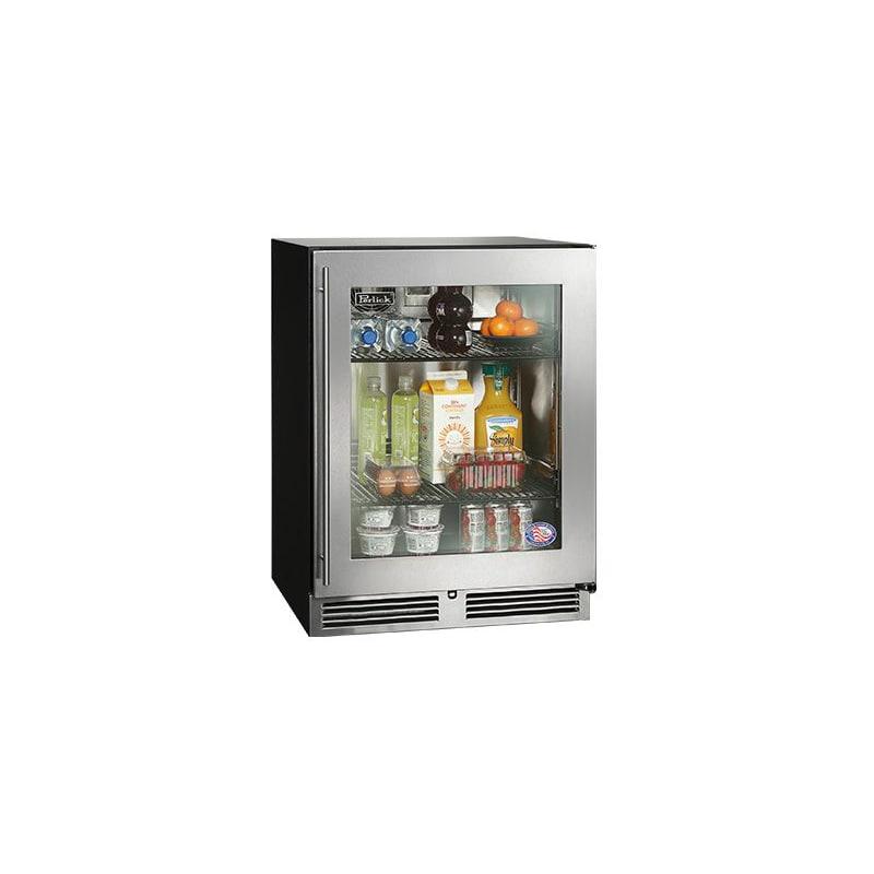 Perlick HA24RB-3-3L 24 ADA-Compliant Built-in Refrigerator w/ Glass Door - Left
