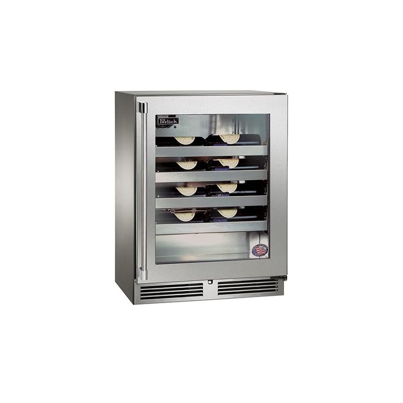 Perlick HH24WO-3-4R 20 Bottle 15 Built-In Single Zone Outdoor Wine Reserve with