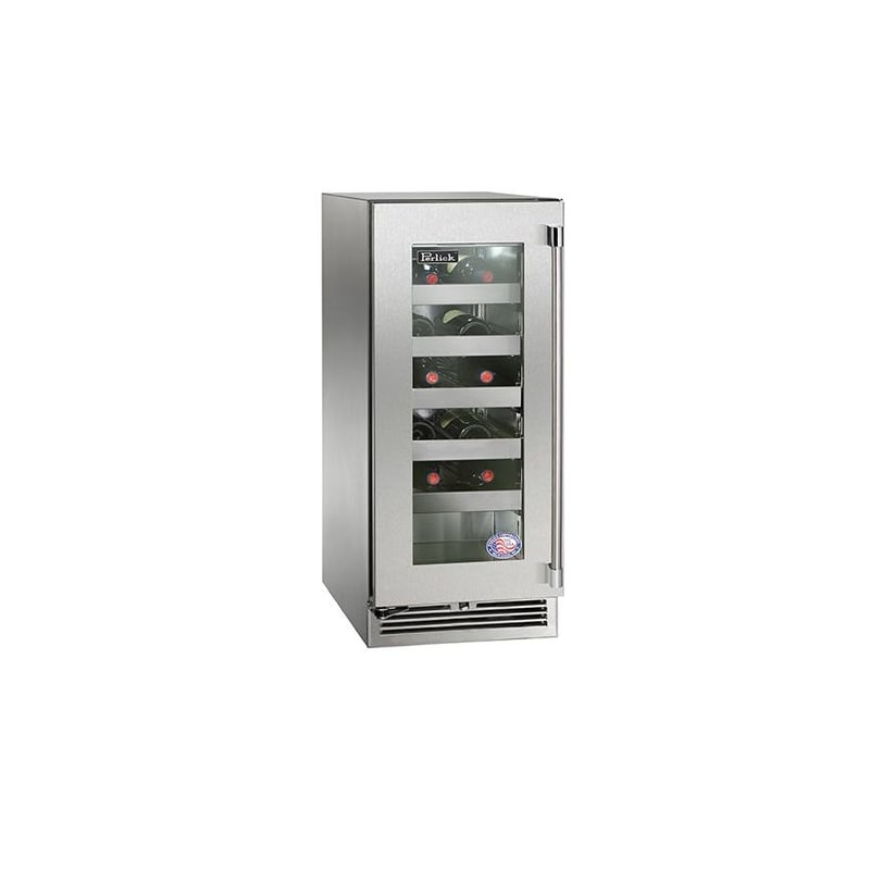 Perlick HP15WO-3-4R 20 Bottle 15 Built-In Single Zone Outdoor Wine Reserve with