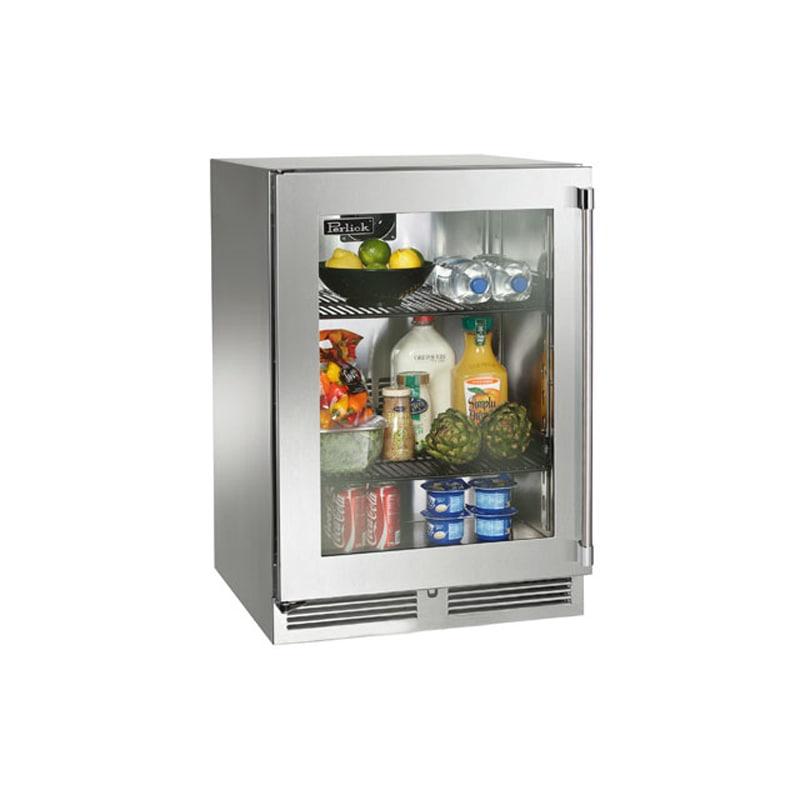 Perlick HP24RO-3-3R 24 Built-in Outdoor Refrigerator w/ Glass Door - Right Hinge