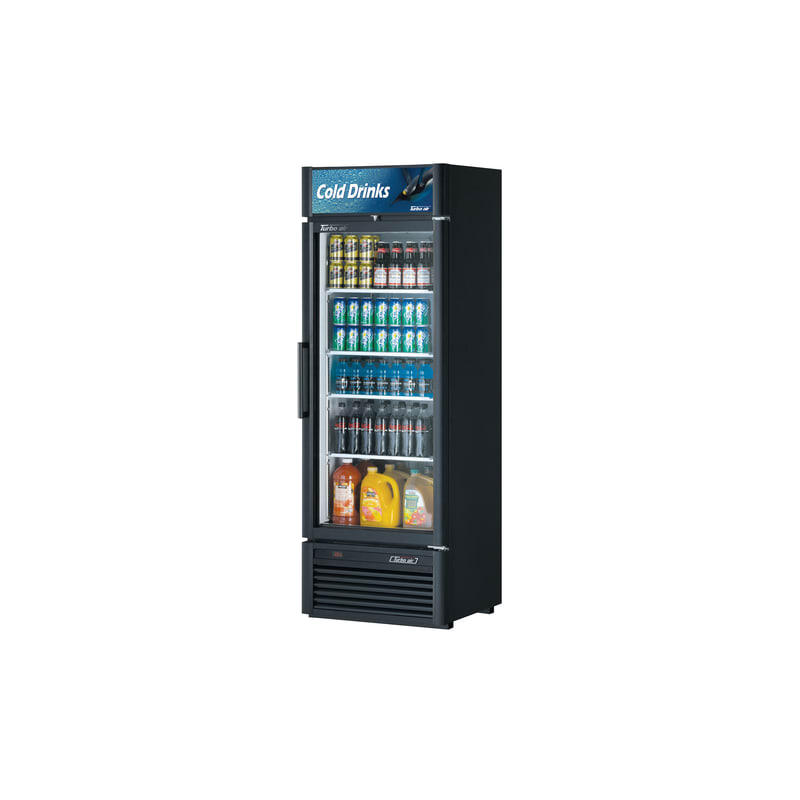 Turbo Air TGM-20SD 17.5 Cu. Ft. Glass Door Refrigerated Merchandiser- Super Delu