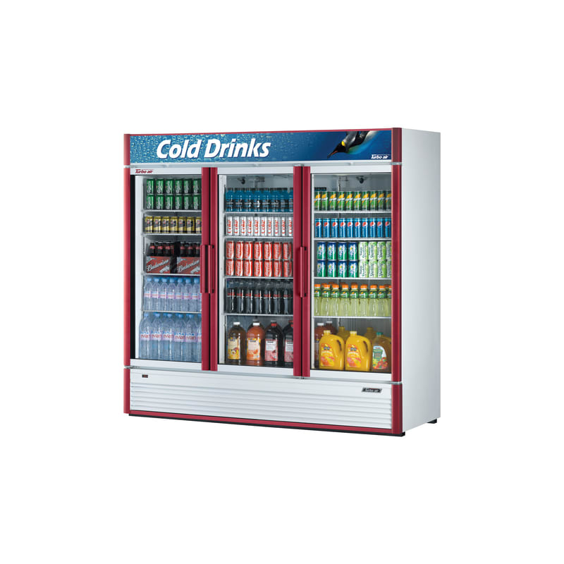 Turbo Air TGM-72SD 71.3 Cu. Ft. Glass Door Refrigerated Merchandiser- Super Delu