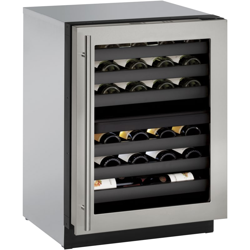 U-Line U-3024ZWCS-00B 43 Bottle 24 Built-In Wine Captain Dual Zone Wine Cooler