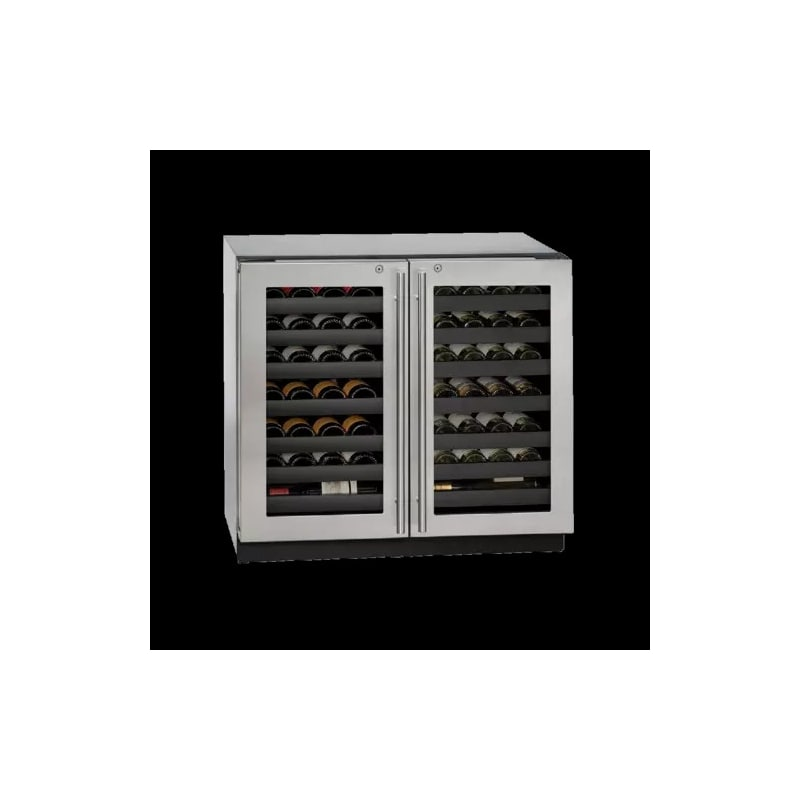 U-Line U-3036WCWCS-13B 36 Wine Captain 62 Bottle Stainless Steel Wine Cooler wit