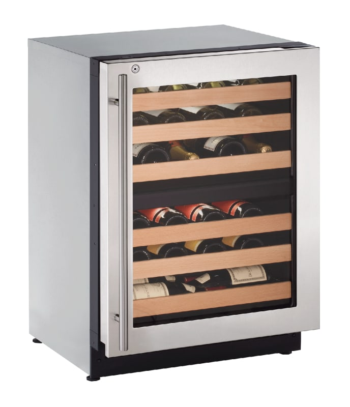 U-Line U-2224ZWCS-15B 43 Bottle 24 Built-In Wine Captain Dual Zone Wine Cooler w