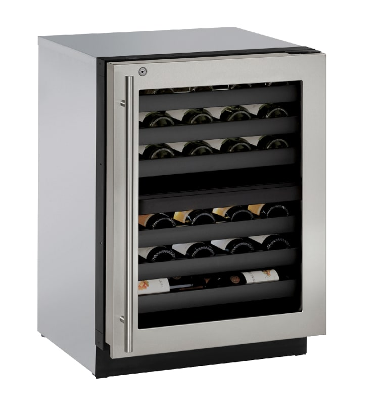 U-Line U-3024ZWCS-15B 43 Bottle 24 Built-In Wine Captain Dual Zone Wine Cooler w