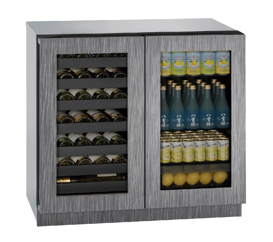 U-Line U-3036BVWCINT-00B 36 Integrated Frame Dual Zone Wine & Beverage Center