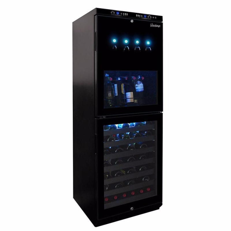 Vinotemp VT-100WINEDISP4 Dual-Zone Wine Dispenser and Cooler