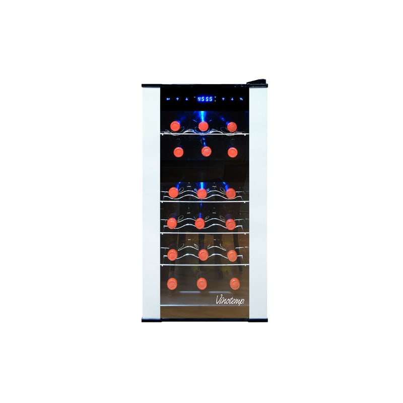 Vinotemp VT-18PTED-2Z 18 Bottle Dual Zone Thermoelectric Wine Cooler